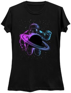 Astronaut At Saturn T-Shirt