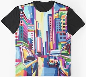 Pop Art Cars T-Shirt