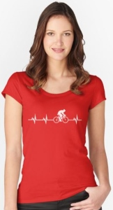 Bicycling Heartbeat T-Shirt