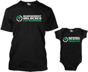 Achievement Unlocked T-Shirt And Baby Bodysuit