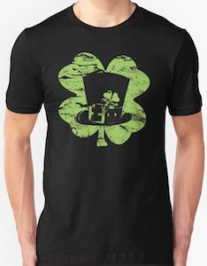 Leprechaun Hat And Shamrock T-Shirt