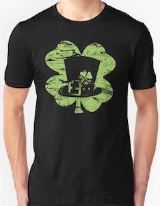 Leprechaun Hat And Shamrock T-Shirt