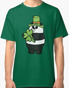 Panda Wants To Go To A St Patrick's Day Party T-Shirt