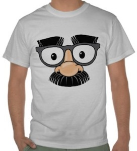 Glasses Nose and Moustache T-Shirt