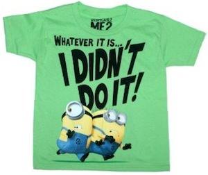 Despicable Me Kids Minion t-shirt