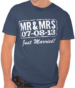 MR & MRS Just Married T-Shirt
