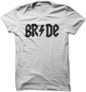 Bride In ACDC Style T-Shirt