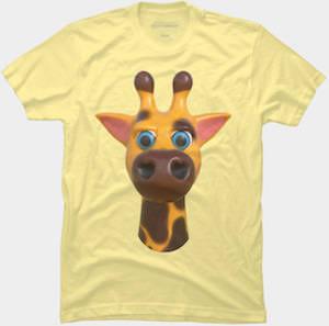 Giraffe Face T-Shirt