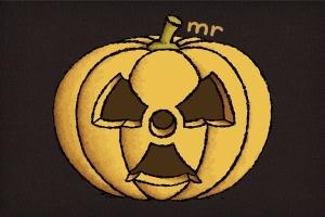 Radioactive Carved Pumpkin T-Shirt