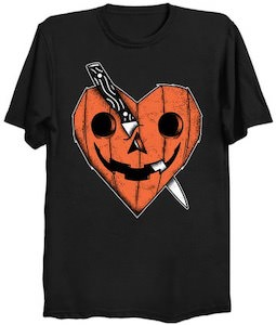 Heart Shaped Carved Pumpkin T-Shirt