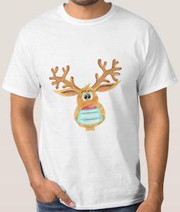 Rudolf The Mask Wearing Reindeer T-Shirt